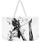 Steven Tyler Microphone Aerosmith Black And White Watercolor 01 Weekender Tote Bag