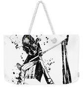 Steven Tyler Microphone Aerosmith Black And White Watercolor 04 Weekender Tote Bag