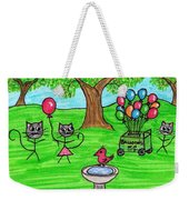 Stick Cats #7 Weekender Tote Bag