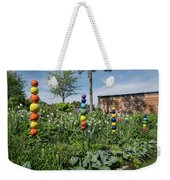 Sticks With Colorful Balls In A Garden Weekender Tote Bag