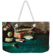 Still Life With A D O M  Bottle  Weekender Tote Bag