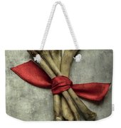 Still Life With Bones And Red Ribbon Weekender Tote Bag