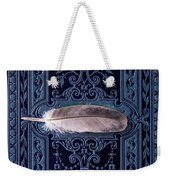 Still Life With Grey Feather Weekender Tote Bag