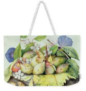 Still Life With Plums, Walnuts And Jasmine Weekender Tote Bag