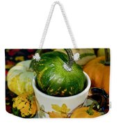 Still Live With Autumn Coffee Cup And Gourds Weekender Tote Bag