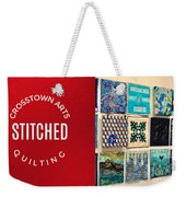 Stitched Quilting Exhibit Weekender Tote Bag