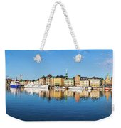 Stockholm Old City Fantastic Golden Hour Sunrise Reflection In The Baltic Sea Weekender Tote Bag