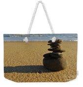 Stone Balance On The Beach Weekender Tote Bag