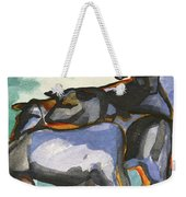 Stone Barn Cows Weekender Tote Bag