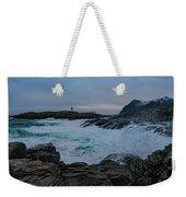 Storm At The Norwegian Coastline Weekender Tote Bag