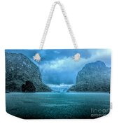 Storm Clouds Invade Ha Long Bay Blue Rain  Weekender Tote Bag