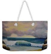 Storm Waves Weekender Tote Bag