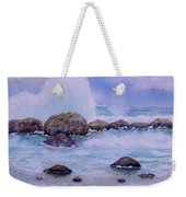 Stormy Shore On Nisyros Greece Weekender Tote Bag