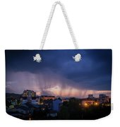 Stormy Weather Over The Small Town Weekender Tote Bag