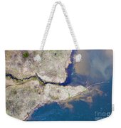 Stream Along Manistee River Aerial Weekender Tote Bag