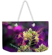 Stream Of Colored Highlights Leads To Yellow Bird Of Paradise Weekender Tote Bag