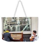 Street Musicians - Paris Weekender Tote Bag by Brian Jannsen