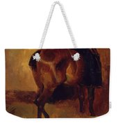 Study For Bay Horse Seen From Behind Weekender Tote Bag
