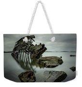 Sturgeon Bay Shipwreck In November Gloom Weekender Tote Bag