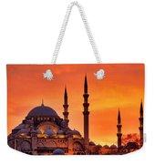 Suleymaniye Mosque At Sunset Weekender Tote Bag