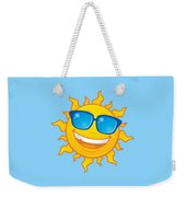 Summer Sun Wearing Sunglasses Weekender Tote Bag