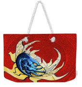 Sun And Moon On Red 2 Weekender Tote Bag