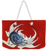 Sun And Moon On Red Weekender Tote Bag