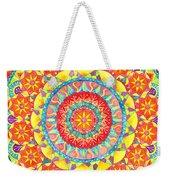 Sun Mandala Weekender Tote Bag