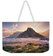 Sun Rising Behind Roque De Los Hermanos Weekender Tote Bag by Dmytro Korol