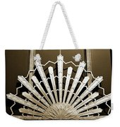Sunburst Art Deco Sepia Weekender Tote Bag