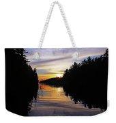 Sundown On The River Weekender Tote Bag