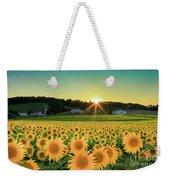 Sunflower Sunset Weekender Tote Bag
