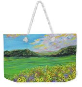 sunflower valley- Sunflower Art-Impressionism painting Weekender Tote Bag