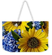 Sunflowers And Hydrangeas Weekender Tote Bag