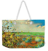 Sunflowers On The Edge Weekender Tote Bag