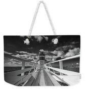 Sunny Skies At Marshall Point In Black And White Weekender Tote Bag