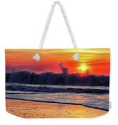 Sunrise At 142nd Street Beach Ocean City Weekender Tote Bag by Bill Swartwout Photography