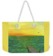 Sunrise At The Dock Weekender Tote Bag