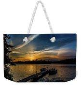 Sunrise Dog Lake Weekender Tote Bag
