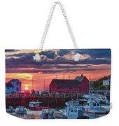 Sunrise On Rockport Harbor Weekender Tote Bag by Jeff Folger