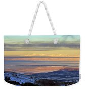 Sunrise View Across Cook Inlet From Above Anchorage Alaska Weekender Tote Bag