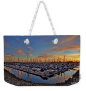 Sunset At Pier 32 Marina In National City, California Weekender Tote Bag by Sam Antonio Photography
