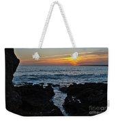 Sunset In Gale Beach. Coast Of Algarve Weekender Tote Bag
