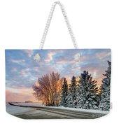 Sunset In Winter Weekender Tote Bag