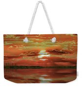 Sunset Lake Weekender Tote Bag by Bill Swartwout Photography