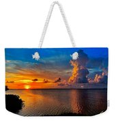 Sunset On Cudjoe Bay 8584 Weekender Tote Bag