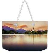 Sunset On Lake Bled Weekender Tote Bag