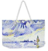Sunset On The Lagoon, Venice - Digital Remastered Edition Weekender Tote Bag