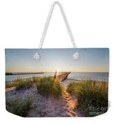 Sunset Over Dunes And Pier Weekender Tote Bag