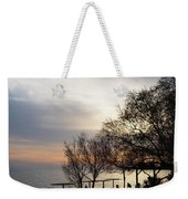 Sunset Scene Of Tree Branches And People Silhouettes Weekender Tote Bag